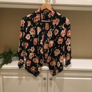 Tops - NWOT Floral Blouse / Cardigan